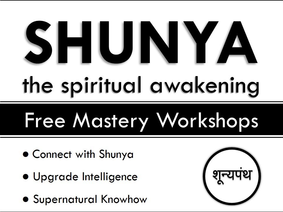 Free mastery workshops by shunya panth. founder vijay batra