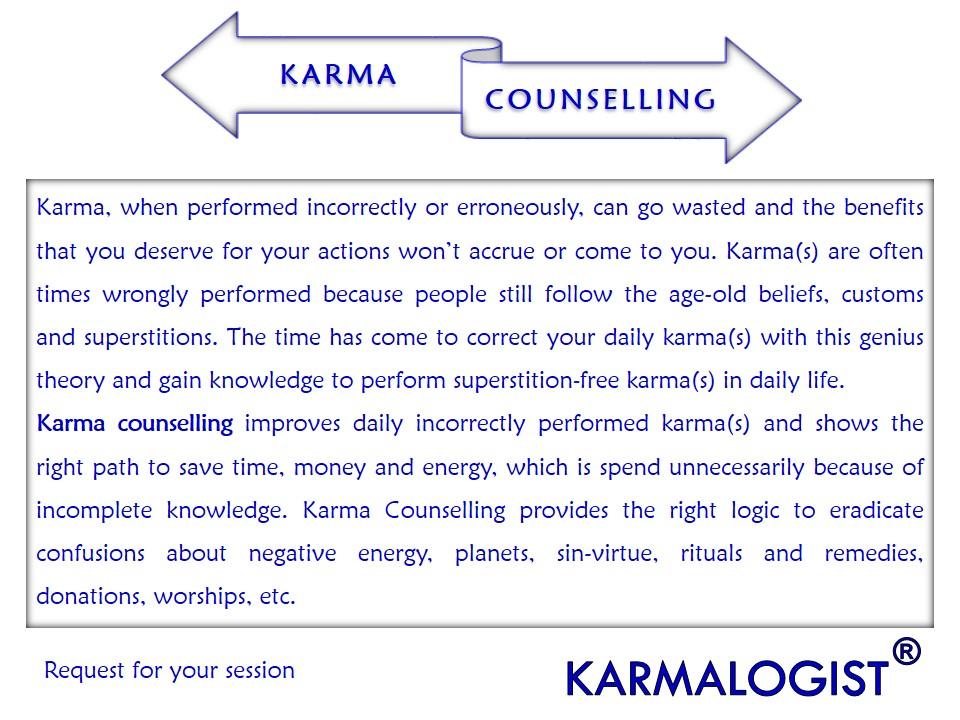 Spiritual and karma counselling